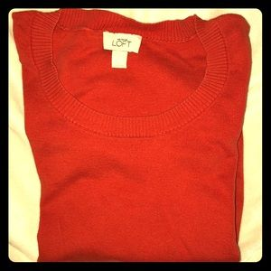Orange Ann Tayler LOFT sweater